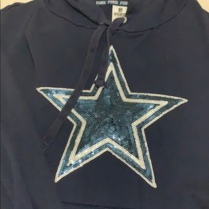 Vs pink cowboys pullover